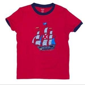 Pekkle Boys Sailor Pirate Ship Tee Shirt